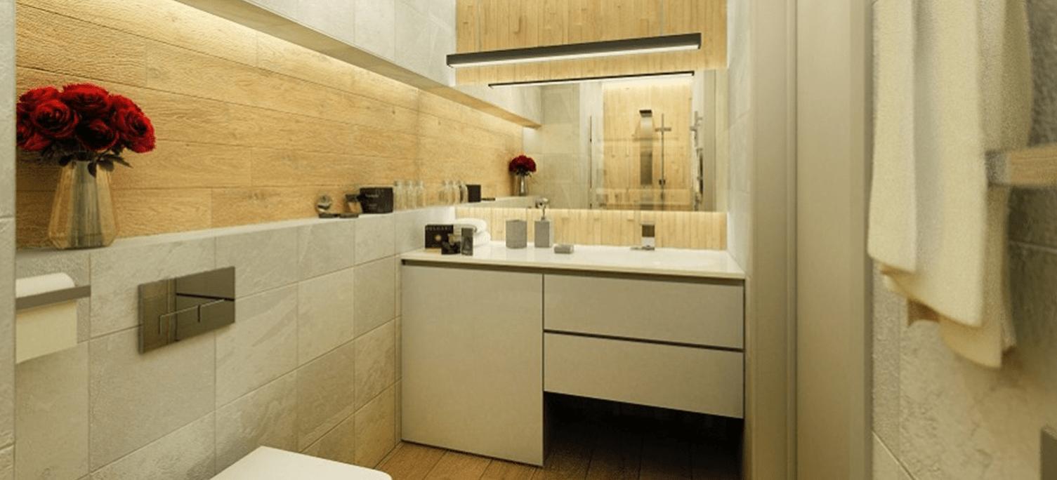 Cafe Południe - wizualizacja łazienka