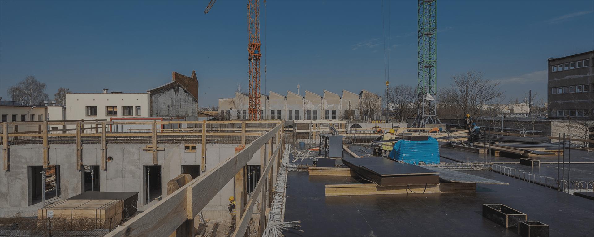 Postępy prac budowlanych