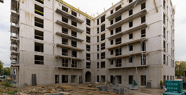 Halo Apartamenty - postępy w budowie